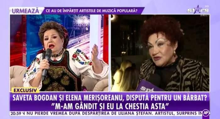 Captură cu Saveta Bogdan în platou la Antena Stars.