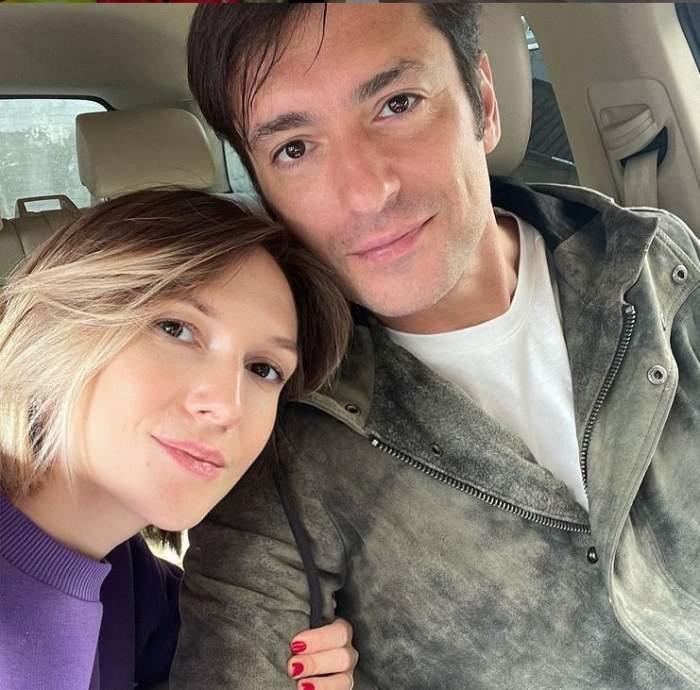 Adela Popescu și soțul ei