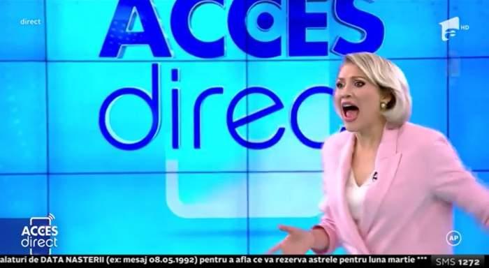 Acces Direct. Mirela Vaida, atacată în direct de o femeie necunoscută! Cine este și ce a vrut agresoarea de la prezentatoare / VIDEO