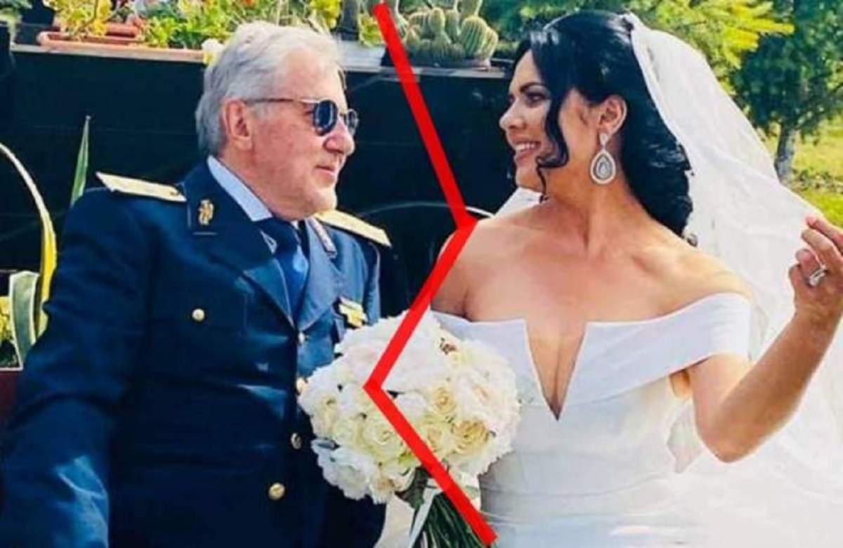 O poză de la nunta Ioanei și a lui Ilie Năstase. Ea poartă rochie albă de mireasă, iar el un costum albastru închis.