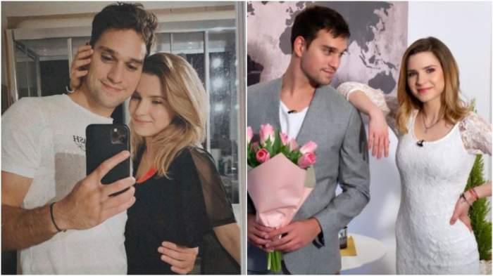 Colaj cu Cristina Ciobănașu și Vlad Gherman în perioada în care formau un cuplu.