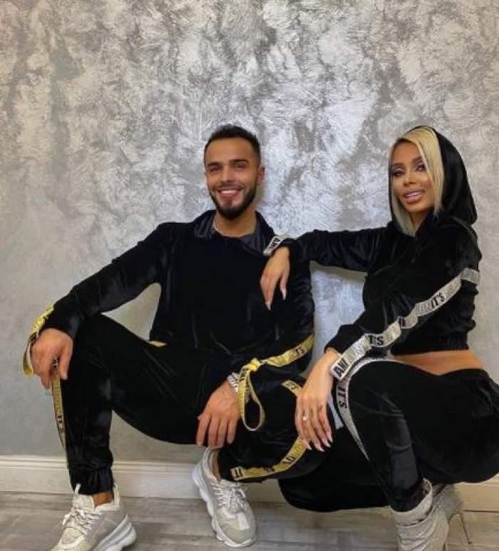 Cristina Pucean și Bassam, în trening negru, la salon.