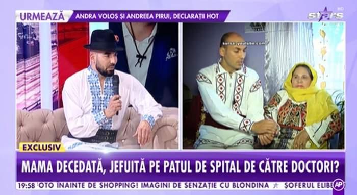 Mihai Constandache imbracat in costum popular in platoul antena stars povestind despre drama sa