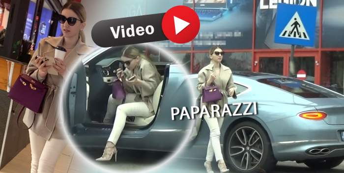 """Când ești fiica lui Gigi Becali, regulile sunt făcute ca să fie încălcate. Alexandra Becali face """"ravagii"""" cu noul bolid de lux / PAPARAZZI"""