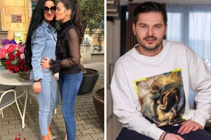 Ami Teiceanu sarutata de fiica ei in poza din stanga si liviu varciu in hanorac in poza din dreapta