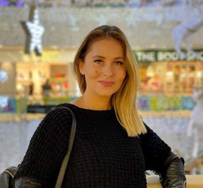 Bianca Sârbu în mall