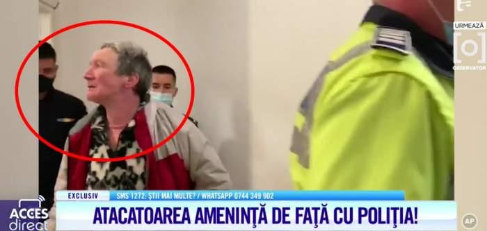 """Prima imagine cu atacatoarea Mirelei Vaida. Apelul făcut de prezentatoare: """"Să aflăm cine este!"""""""