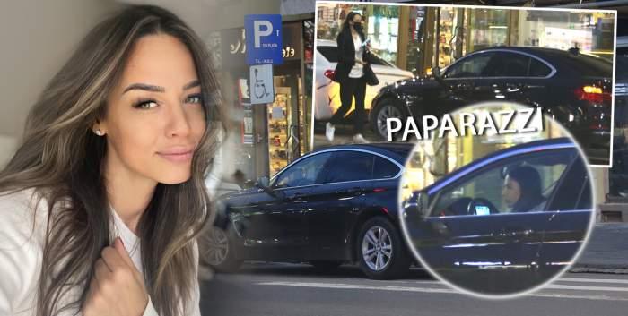 """Când vine vorba de cumpărături, lipsa unui loc de parcare nu o oprește! Andreea Raicu, surprinsă la un magazin de optică, iar mașina pe """"interzis"""" / PAPARAZZI"""