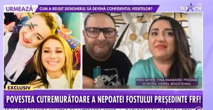 Fina Anamariei Prodan și soțul la Showbiz Report