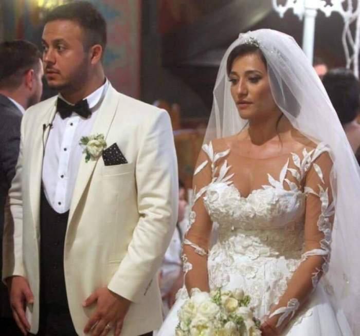 Claudia Pătrășcanu și Gabi Bădălău în perioada în care formau un cuplu, în ziua nunții.