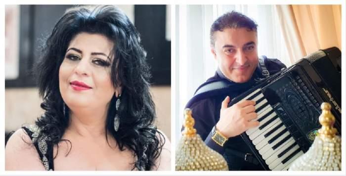 Un colaj cu Paula Lincan și Marian Mexicanu. Ea zâmbește discret, iar el cântă la acordeon.