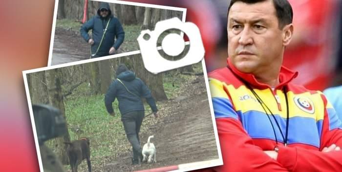 Viorel Moldovan nu a antrenat doar fotbaliști! Fostul jucător și-a dreasat cățeii cum știe el mai bine. Cum a fost surprins alături de patrupezi / PAPARAZZI