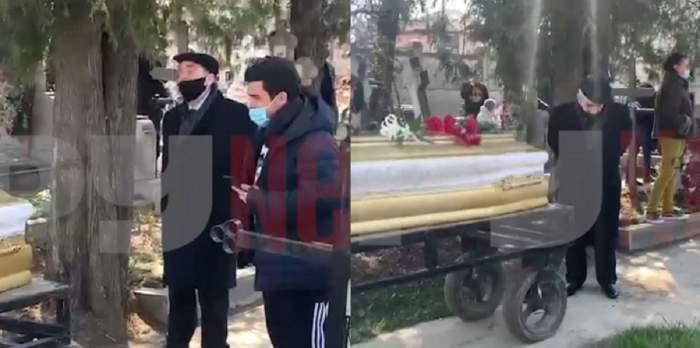 """Aurel Pădureanu și fiul Corneliei Catanga, lacrimi și strigăte de durere la înmormântarea aristei: """"Scoală-te, nu e locul tău aici"""" / VIDEO"""
