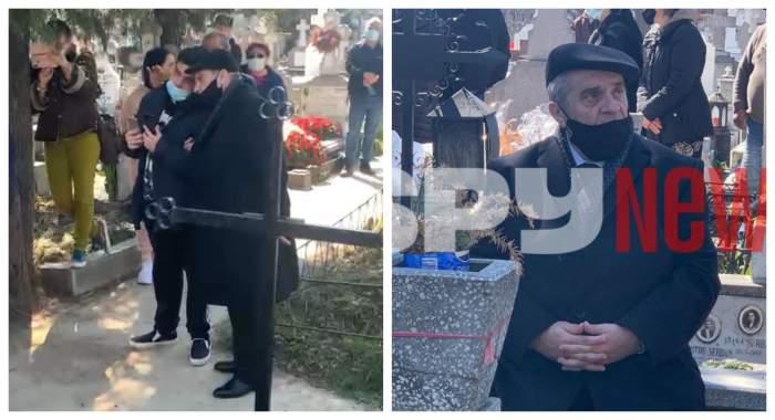 Imagini exclusive de la sluja de înmormântare a Corneliei Catanga! Aurel Pădureanu și fiul său, îngenunchiați la sicriul artistei / VIDEO
