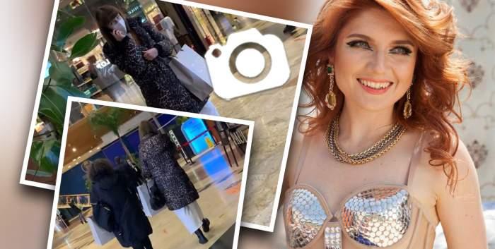 Alexandra Ungureanu, ocupată chiar și la shopping. Nici cea mai bună prietenă nu o face să lase telefonul din mână / PAPARAZZI