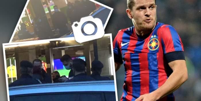 Unde-i lege, nu-i tocmeală, nici pentru Alexandru Bourceanu. Imagini cu Jandarmeria Română, în control la restaurantul fotbalistului / PAPARAZZI