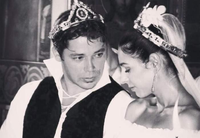 Cristi Iacob și Gabriela, în ziua nunții