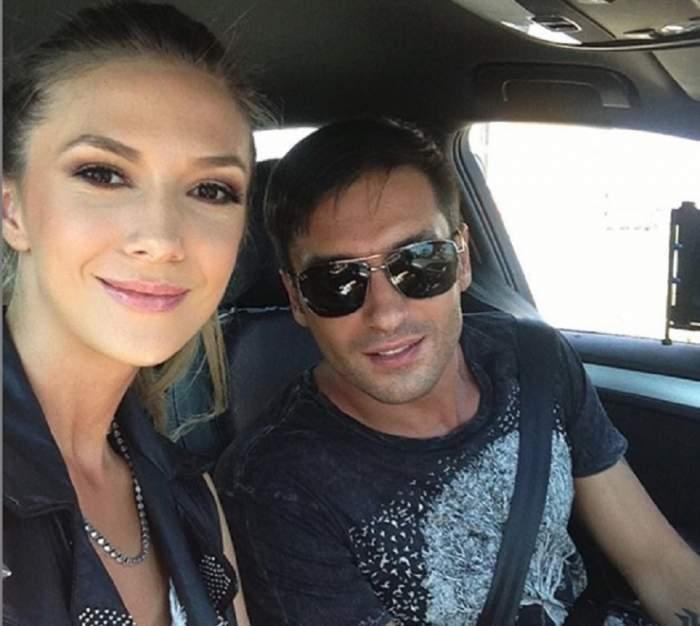 Adela Popescu și Radu Vâlcan, selfie în mașină