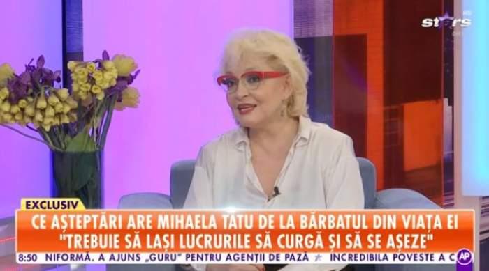 Mihaela Tatu, în ținută albă, la Antena Stars
