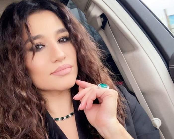 Claudia Pătrășcanu, selfie în mașină