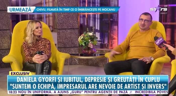 Daniela Gyorfi si George Tal ofera un interviu penrtu Antena Stars