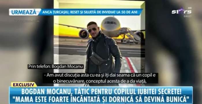 Captură video cu Bogdan Mocanu, interviu la Antena Stars.