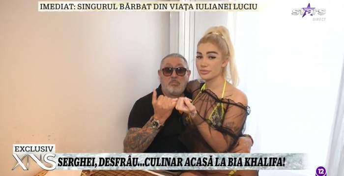 Serghei Mizil, răsfățat de Bia Khalifa cu un preparat tradițional. Blondina a arătat la Xtra Night Show cum i-a ieșit zeama de zdrențe / VIDEO