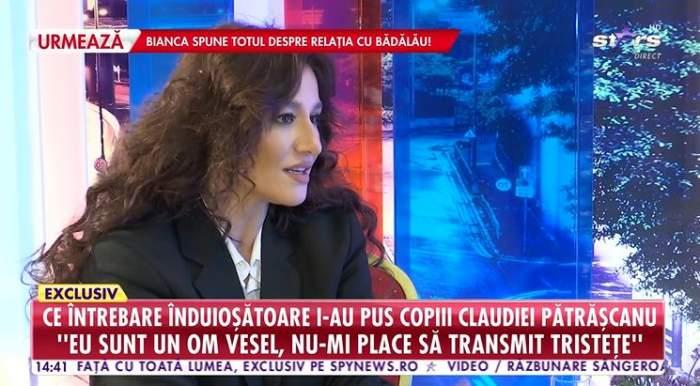 Claudia Patrascanu ofera interviu pentru Antena Stars