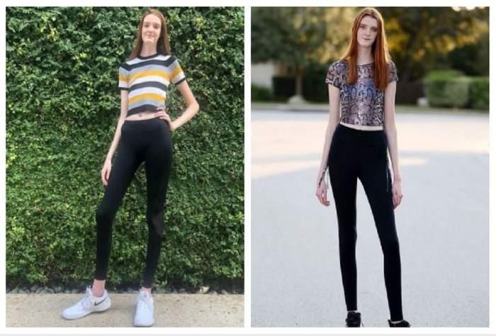 Un colaj cu Maci Currin, fata cu cele mai lungi picioare din lume.