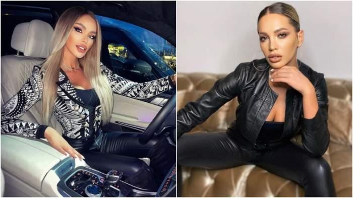 Colaj cu Bianca Drăgușanu în mașină/ Iulia Sălăgean pe canapea