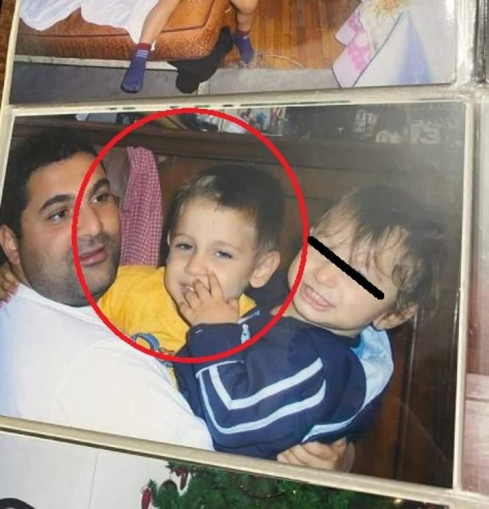 Adrian Petrache alături de tatăl său, când era mic.