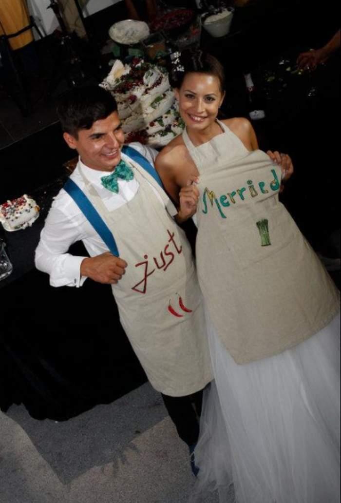 silviu nedelea si sotia in ziua nuntii la local
