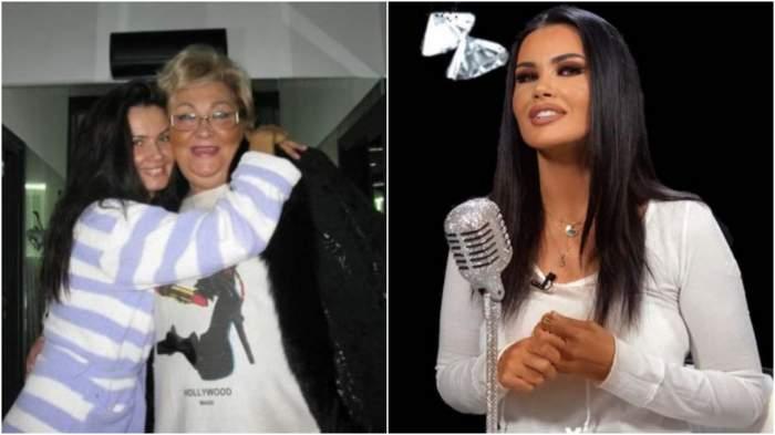 Oana Zăvoranu alături de mama sa, în perioada în care aceasta trăia/ Oana Zăvoranu în bluză albă.
