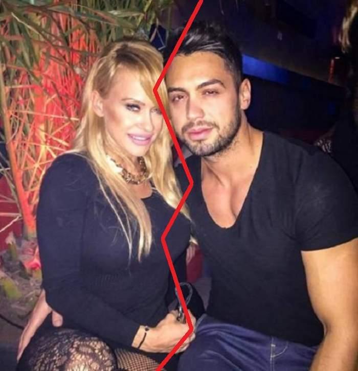 Fotografie cu Anda Adam și soțul ei îmbrățișați, dar despărțiți
