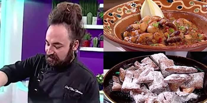 Reteța gustoasă pentru iahnie de fasole și minciunele preparată de Chef Mino, la Antena Stars / VIDEO