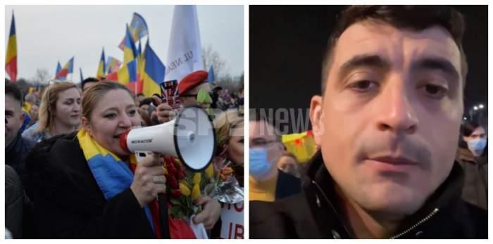 Diana Sosoaca si George Simion au particpat la protestele din Capitala