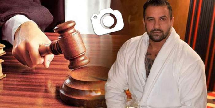 Colaj foto cu Alex Bodi în halat alb și un magistrat care ia o decizie