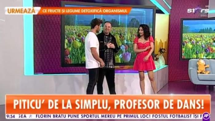 Piticu` de la Simplu, în platoul Antena Starsm alături de cei doi prezentatori