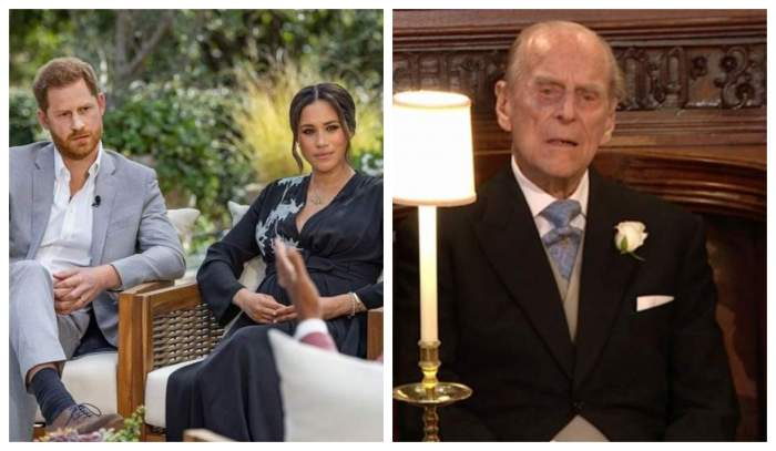 Printul Harry și Meghan Markle sunt la interviu in gradina, Printul Philip la o ceremonie, poarta costum