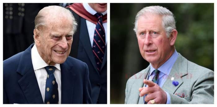 Colaj foto cu Prințul Charles și Prințul Philip