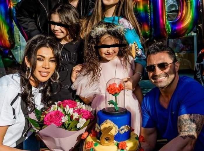 Raluca Pastramă și Pepe alături de fiicele lor.