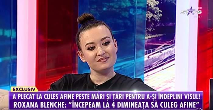 Captură video cu Roxana Blenche la Antena Stars.