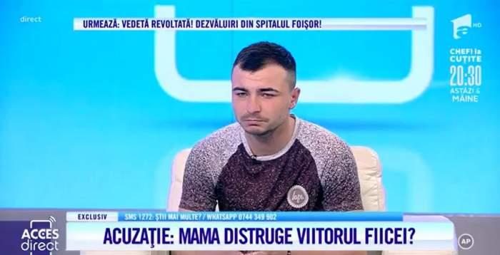 Marius Bratu, un tânăr tată, vrea să-și crească singur fetița