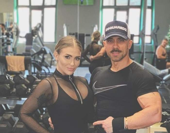 Oana Radu, la sală cu soțul Cătălin Dobrescu