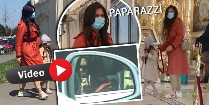 Roxana Dobre a încălcat legea la volan, dar imediat și-a ''spălat'' păcatele. Partenera lui Florin Salam, surprinsă în timp ce se roagă la biserică / PAPARAZZI