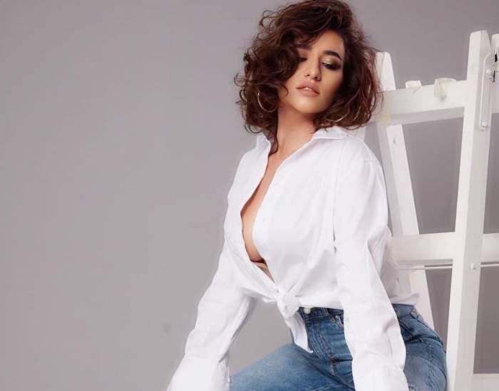 """Claudia Pătrășcanu a pozat provocator pe internet. Cum arată fosta soție a lui Gabi Bădălău în costum bărbătesc: """"Mă simt puternică"""" / FOTO"""