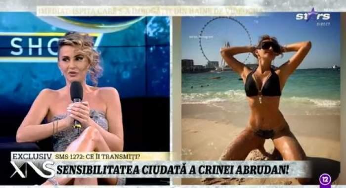 Colaj foto cu Crina Abrudan la Antena Stars