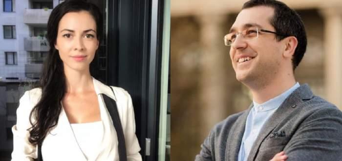 Un colaj cu Laura Ștefănuț și Vlad Voiculescu.
