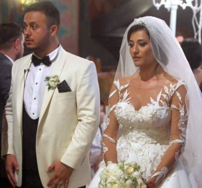 Claudia Pătrășcanu și Gabi Bădălău în perioada în care formau un cuplu, în ziua nunții lor.