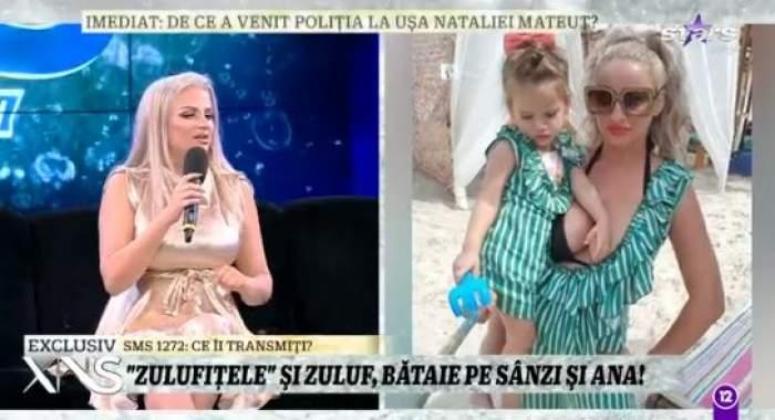 Colaj foto cu Sânziana Buruiană și fiica sa